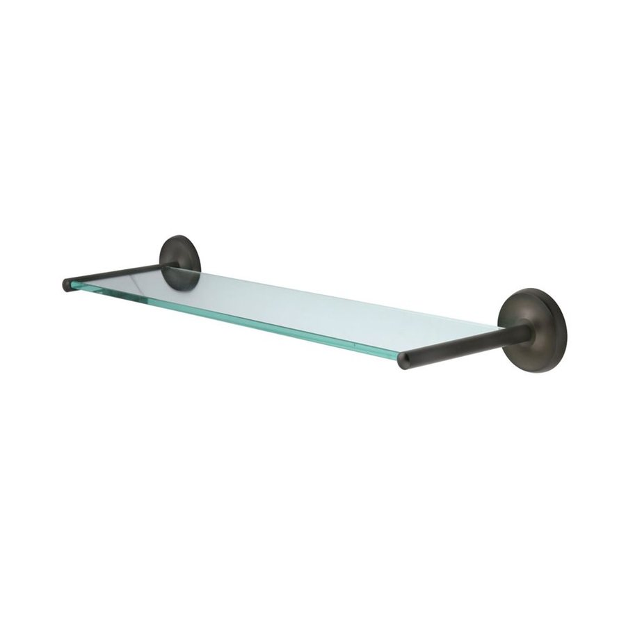 Elements of Design Petosky Oil Rubbed Bronze and Glass Bathroom Shelf