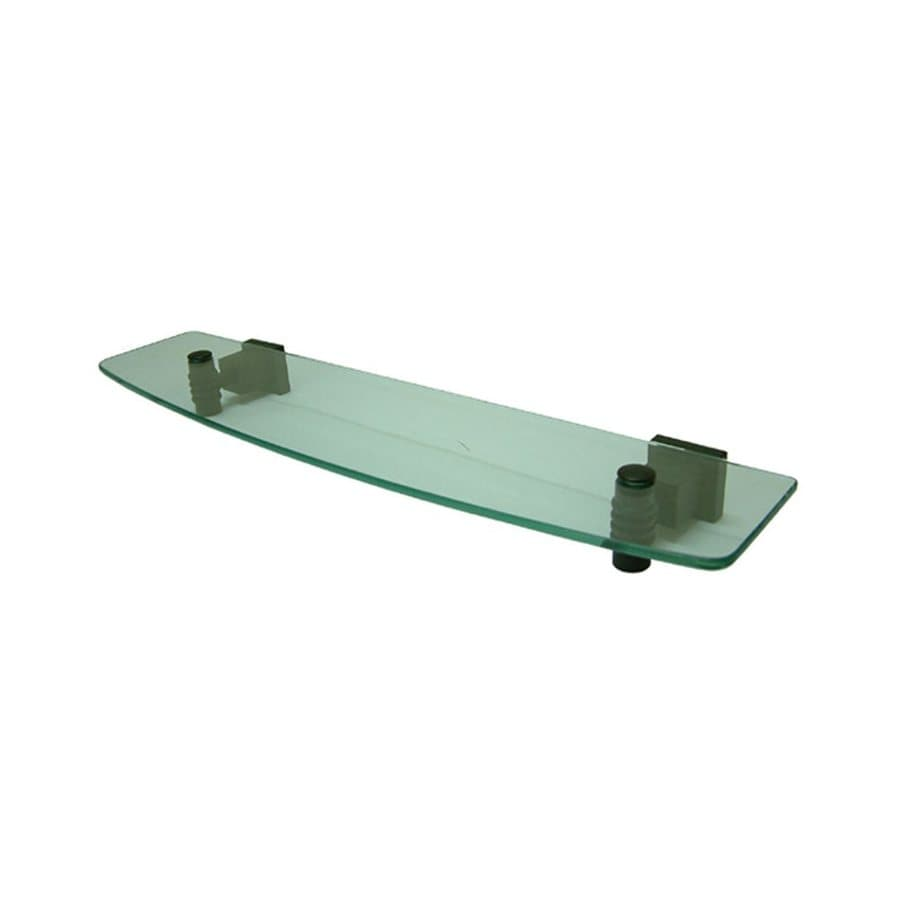 Elements of Design Fortress Oil Rubbed Bronze and Glass Bathroom Shelf