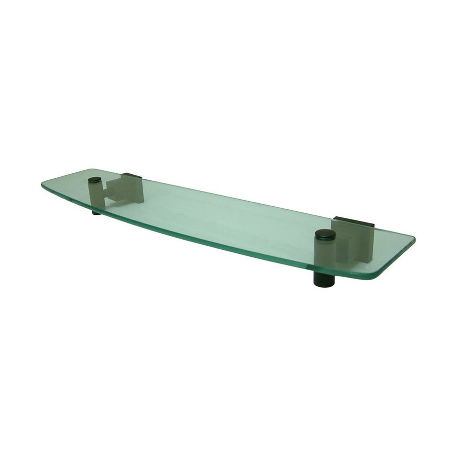 Elements of Design Claremont Oil Rubbed Bronze and Glass Bathroom Shelf