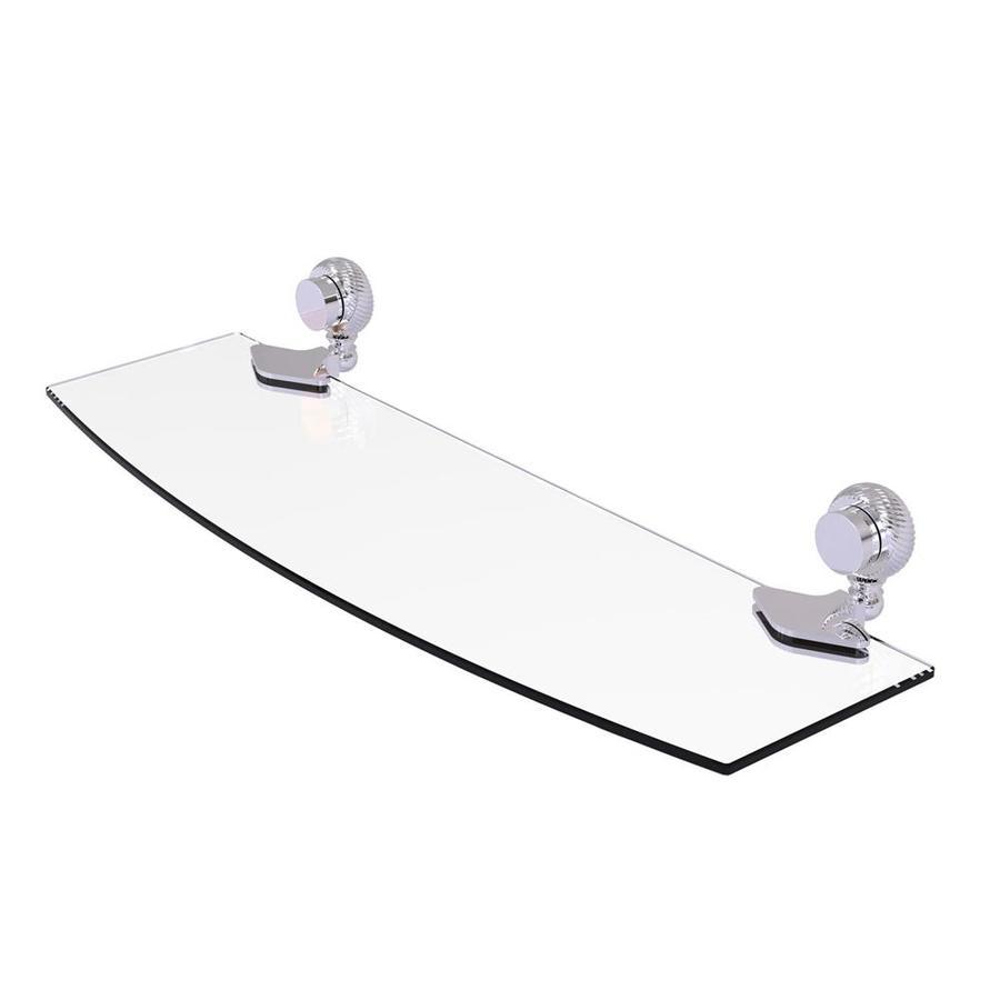 Allied Brass Venus Polished Chrome Brass Bathroom Shelf