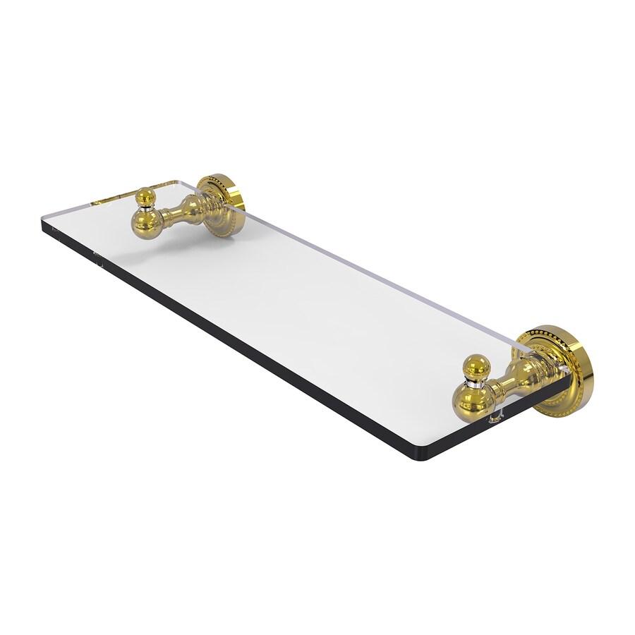 Allied Brass Dottingham Polished Brass Brass Bathroom Shelf