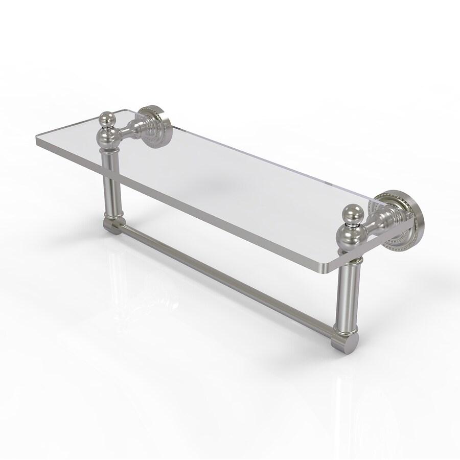 Allied Brass Dottingham Satin Nickel Brass Bathroom Shelf