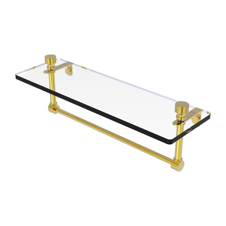 Allied Brass Prestige Regal Polished Brass Brass Bathroom Shelf