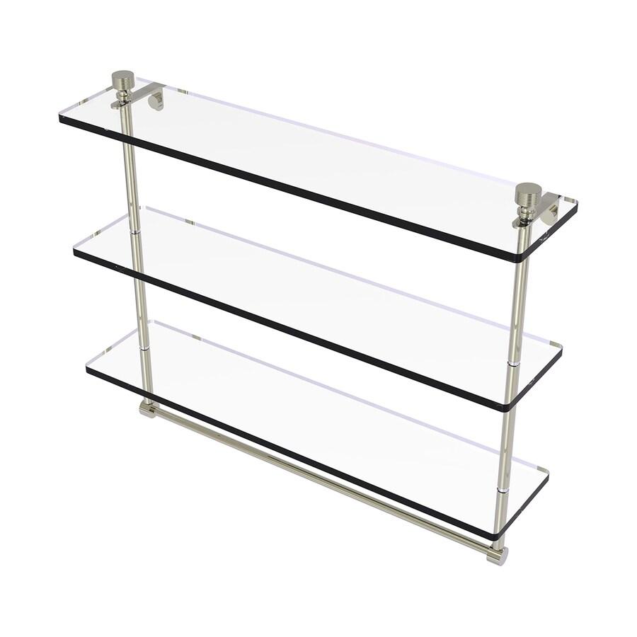 Allied Brass Prestige Regal 3-Tier Polished Nickel Brass Bathroom Shelf