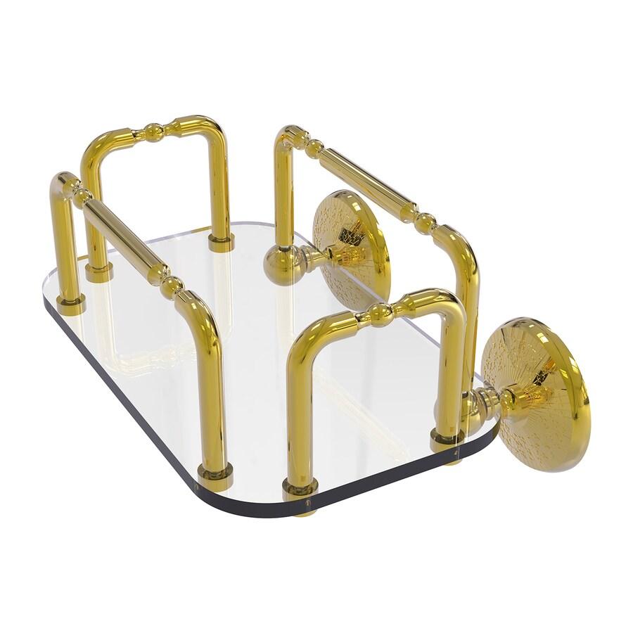 Allied Brass Monte Carlo Polished Brass Brass Bathroom Shelf