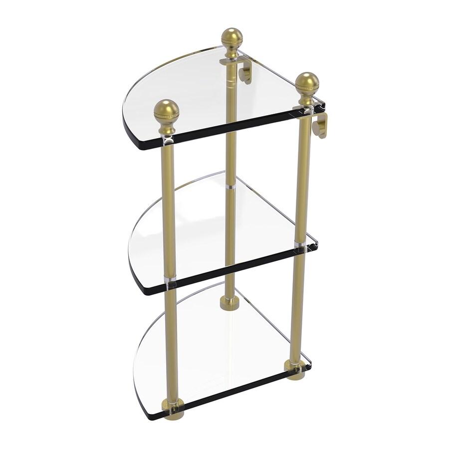 Allied Brass Prestige Regal 3-Tier Satin Brass Brass Bathroom Shelf