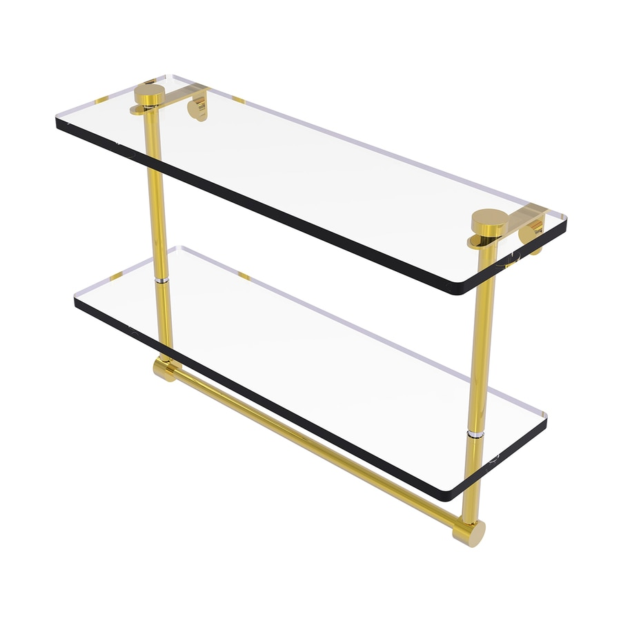 Allied Brass Prestige Regal 2-Tier Polished Brass Brass Bathroom Shelf