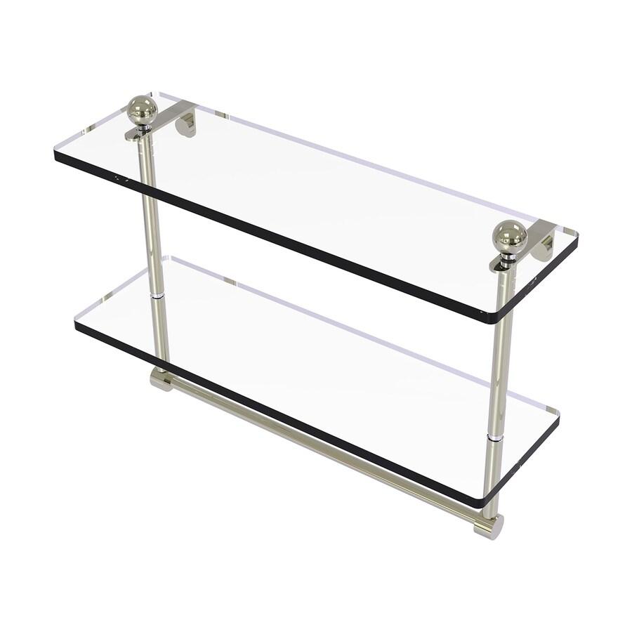 Allied Brass Prestige Regal 2-Tier Polished Chrome Brass Bathroom Shelf