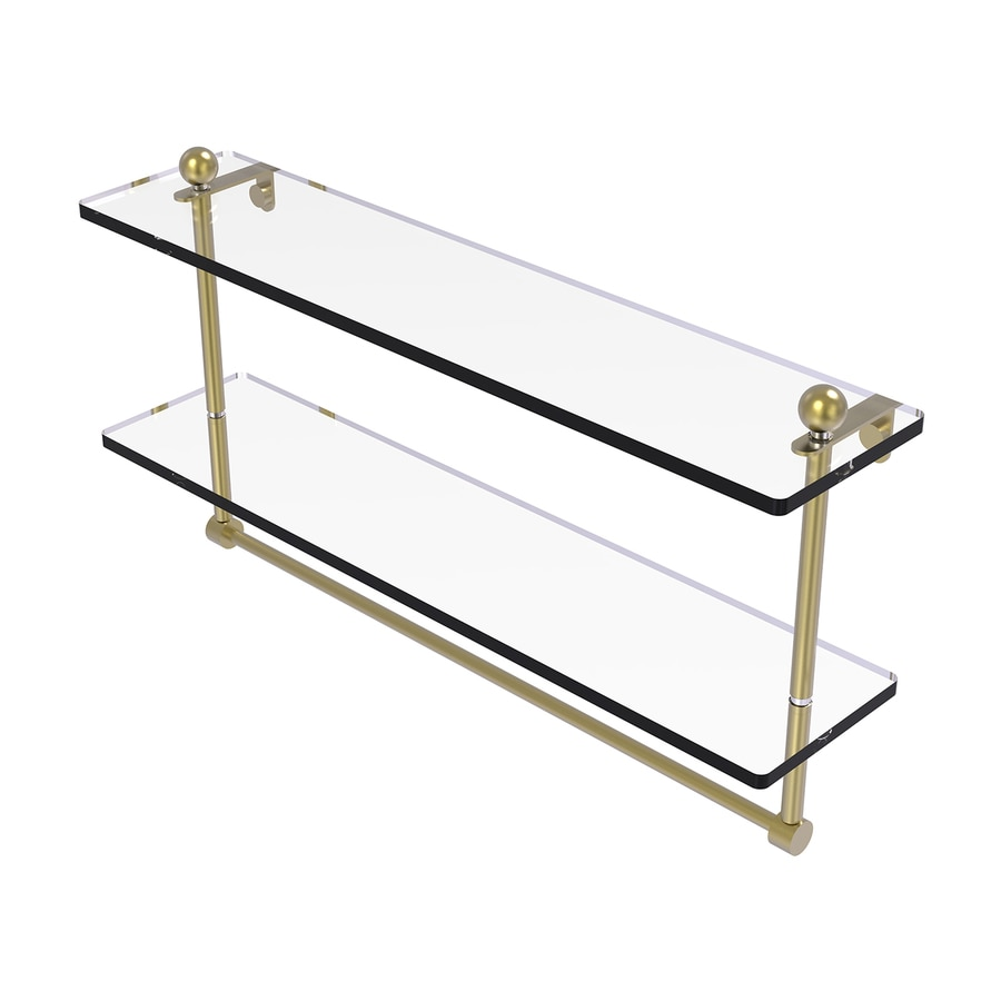 Allied Brass Prestige Regal 2-Tier Satin Brass Brass Bathroom Shelf