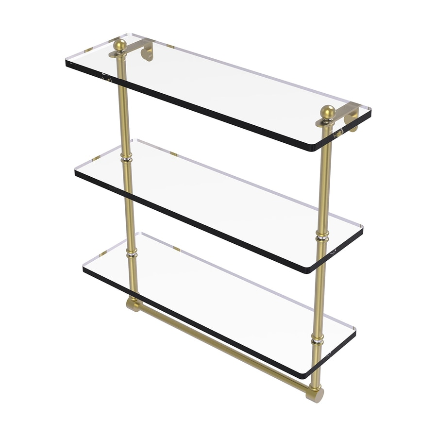 Allied Brass Prestige Regal 3-Tier Satin Brass Brass Bathroom Shelf