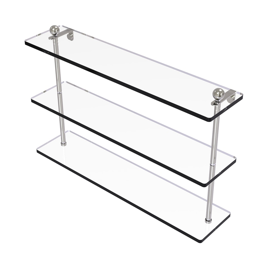 Allied Brass Prestige Regal 3-Tier Satin Nickel Brass Bathroom Shelf