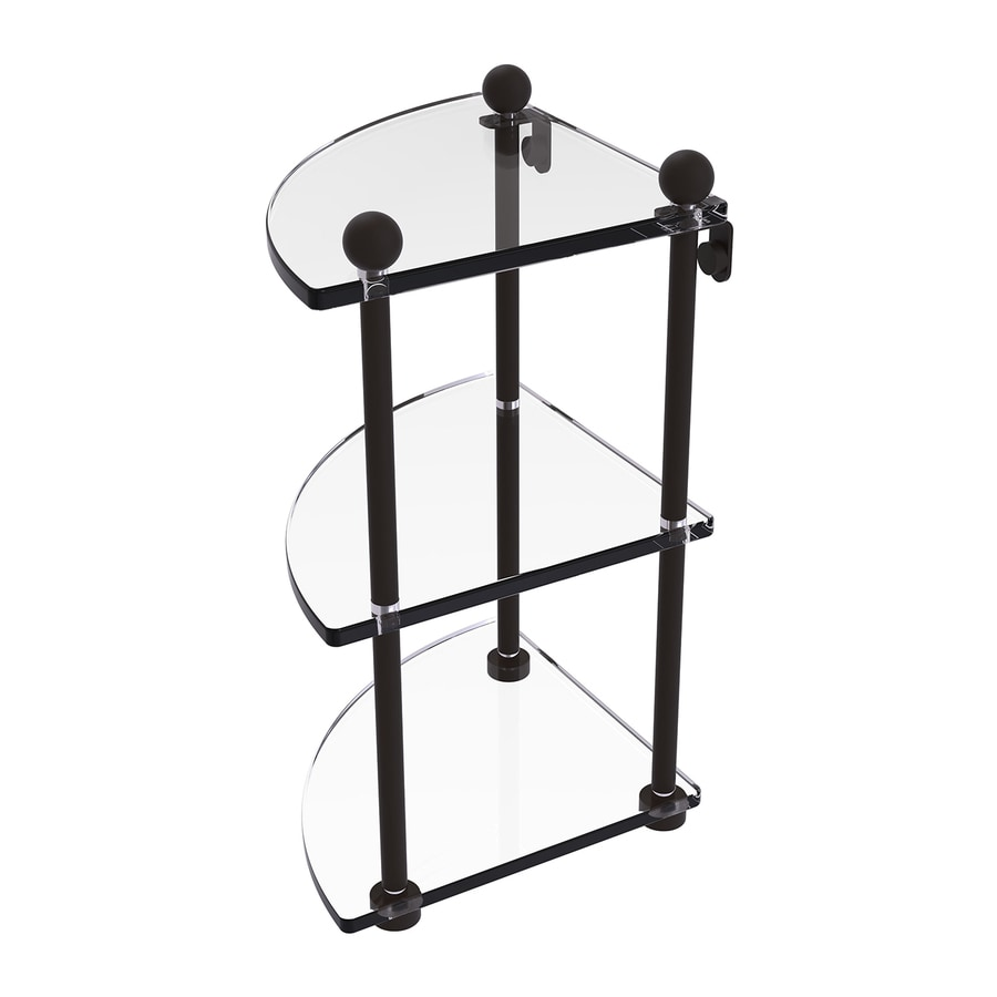 Shop Allied Brass Prestige Regal 3 Tier Oil Rubbed Bronze Brass Bathroom Shelf At