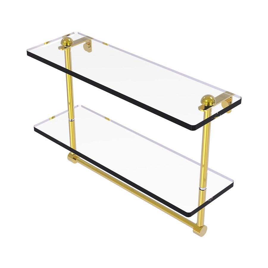 Allied Brass Prestige Regal 2-Tier Polished Brass Brass Bathroom Shelf