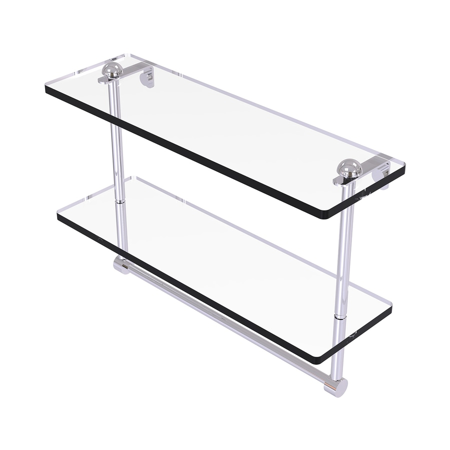 Allied Brass Prestige Regal 2-Tier Polished Chrome Brass Bathroom Shelf