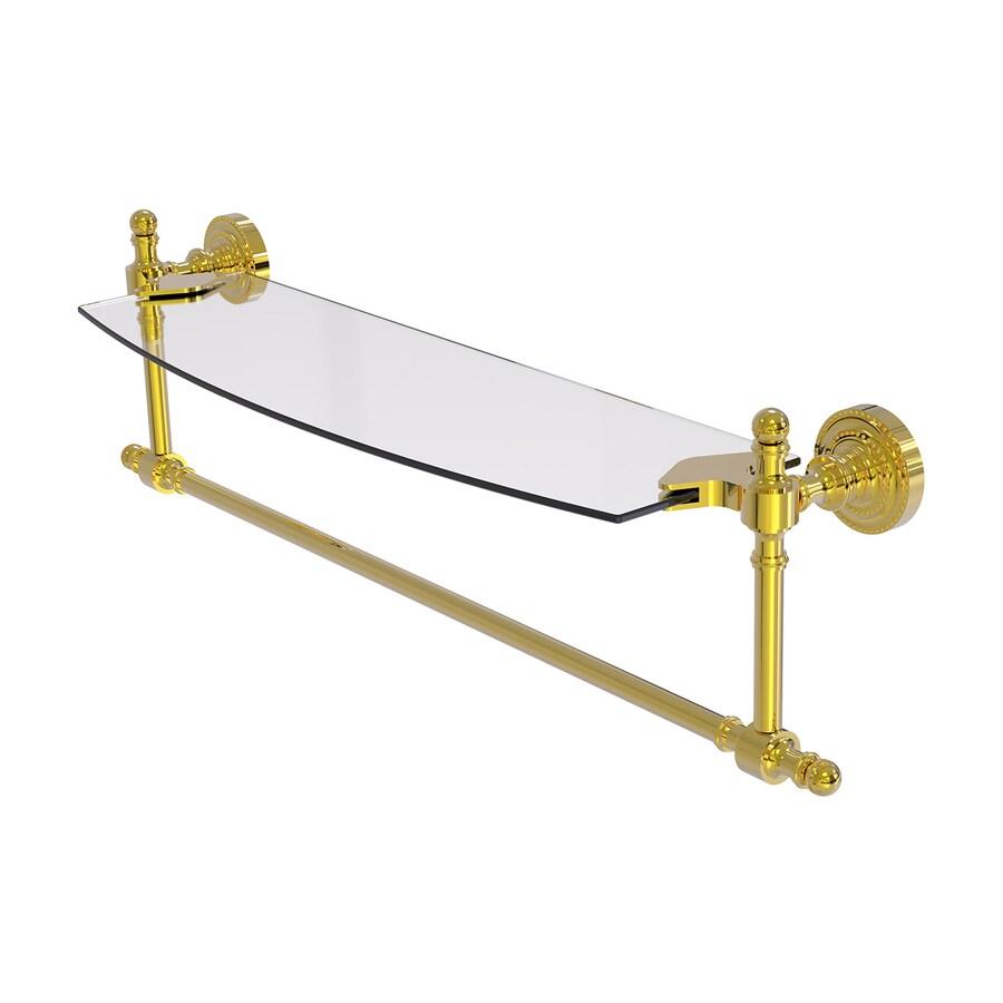 Allied Brass Retro-Dot Polished Brass Brass Bathroom Shelf