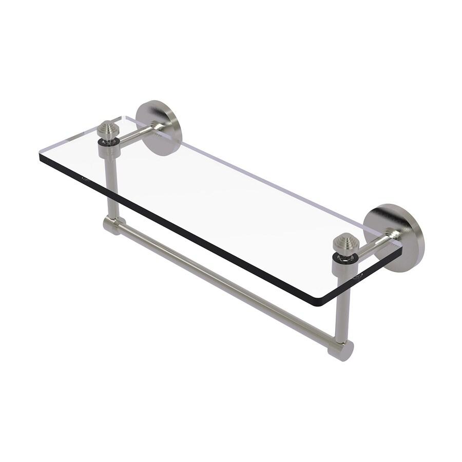 Allied Brass Southbeach Satin Nickel Brass Bathroom Shelf