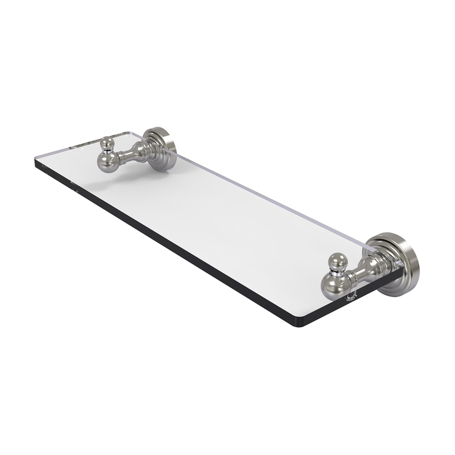 Allied Brass Waverly Place Satin Nickel Brass Bathroom Shelf