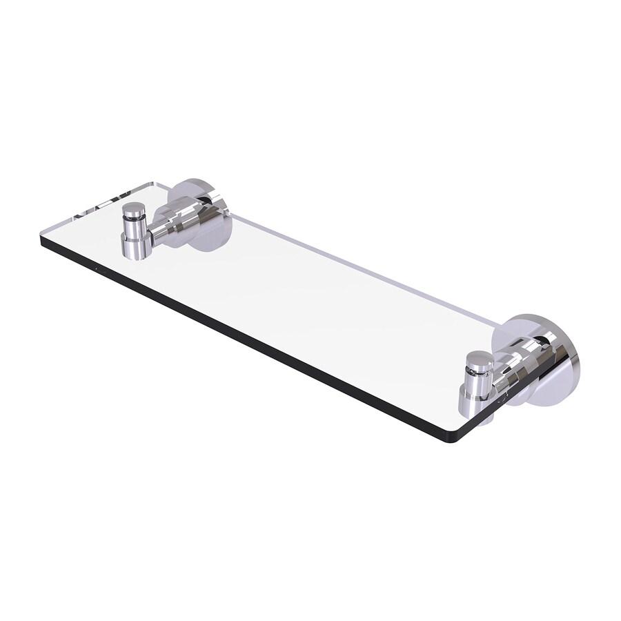 Allied Brass Washington Square Polished Chrome Brass Bathroom Shelf