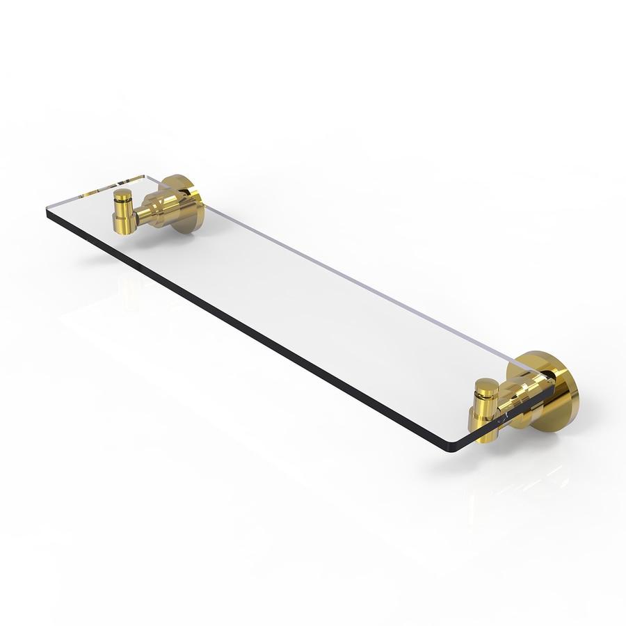 Allied Brass Washington Square Polished Brass Brass Bathroom Shelf