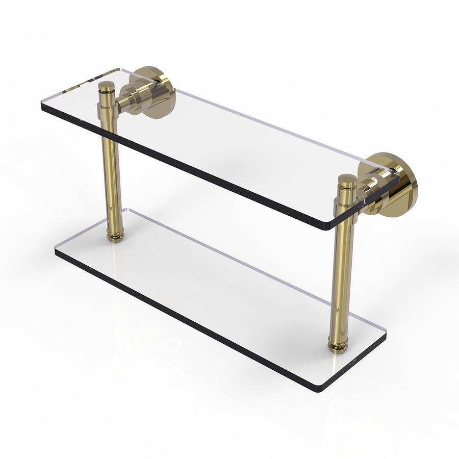 Allied Brass Washington Square 2-Tier Venetian Bronze Brass Bathroom Shelf