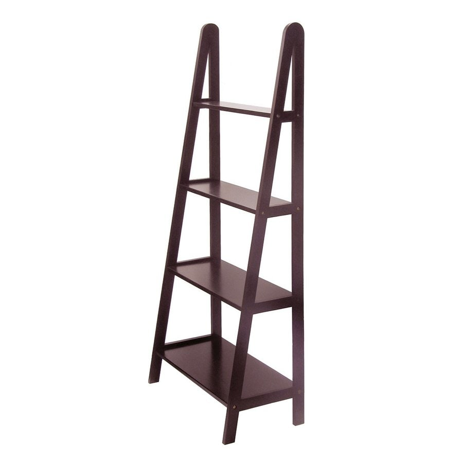 Winsome Wood 4-Tier Dark Espresso Wood Bathroom Shelf