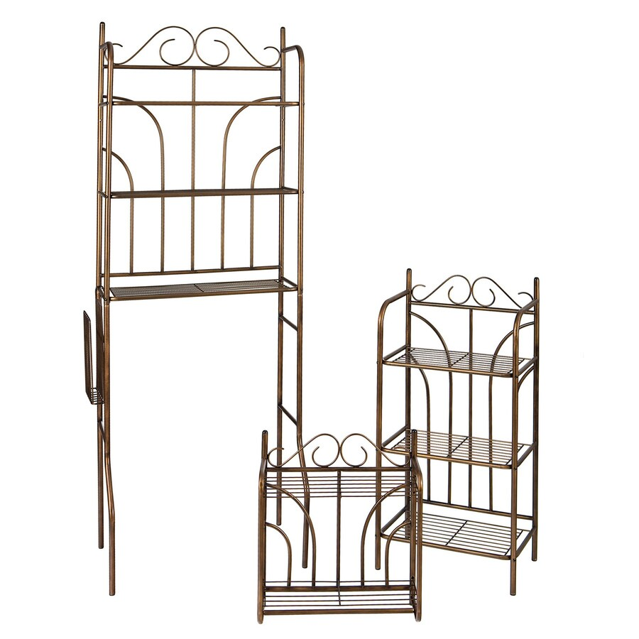 Shop Boston Loft Furnishings Set Of 3 Rubbed Bronze Metal