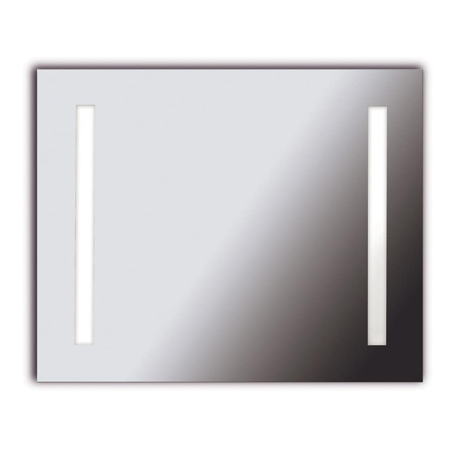 Kenroy Home Rifletta 32-in W x 26-in H Rectangular Frameless Bathroom Mirror with Hardware and Edges
