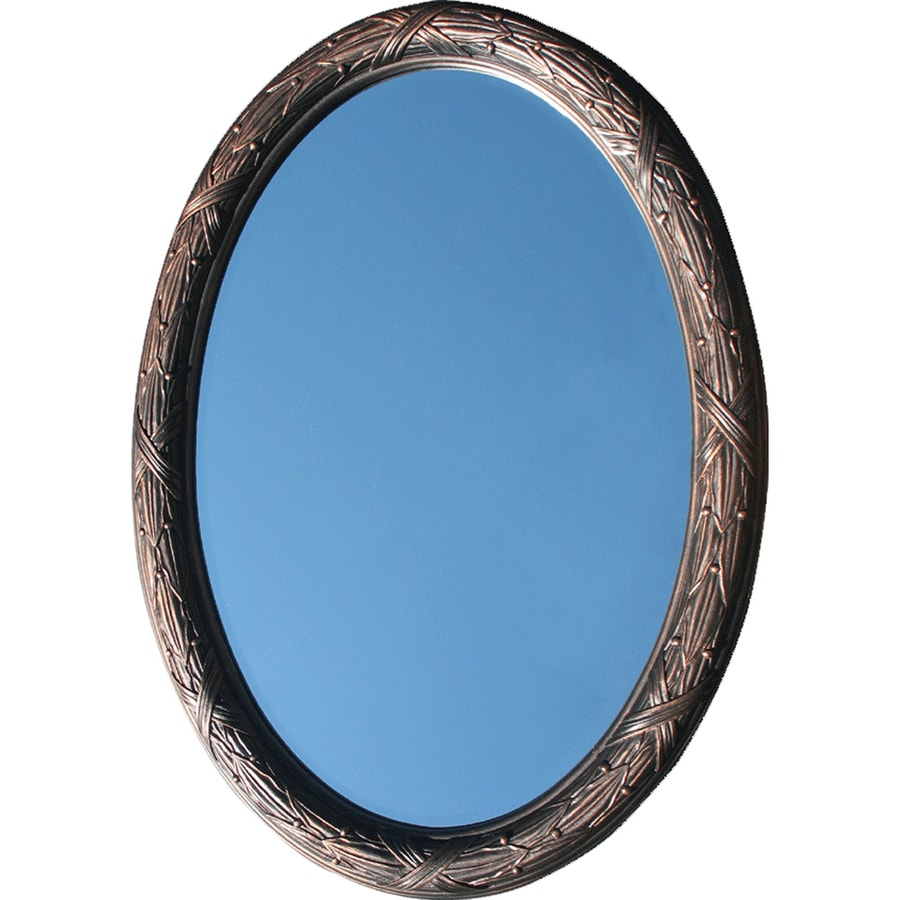 American Pride Corinthian Ornate 26-in W x 36-in H Venetian Bronze Oval Bathroom Mirror