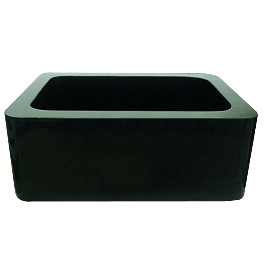 Granite Apron Front Sink : ... Stone Products Single-Basin Apron Front/Farmhouse Granite Kitchen Sink