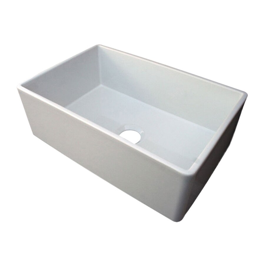 Alfi 19.75-in x 29.875-in Biscuit Single-Basin Fireclay Apron Front/Farmhouse Residential Kitchen Sink