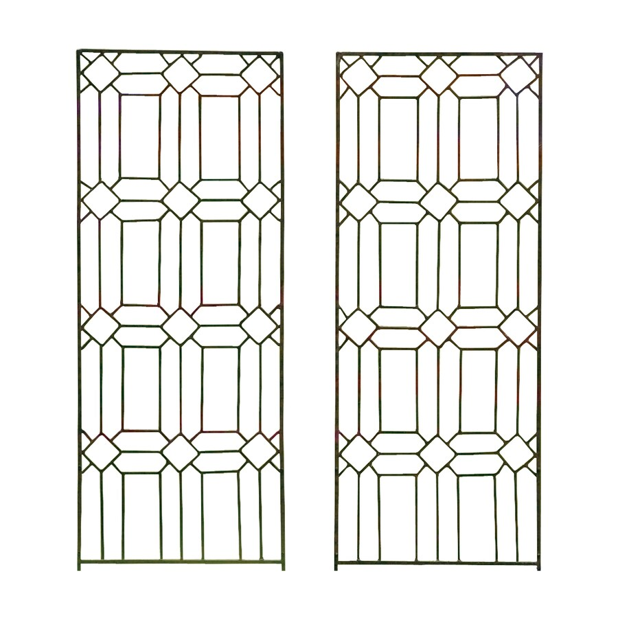 H. Potter Diamond 19-in W x 48-in H Charcoal Brown Garden Trellis
