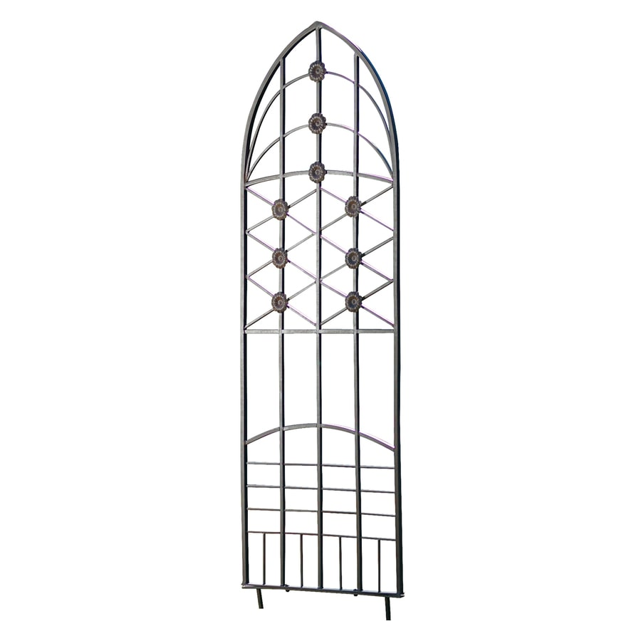 H. Potter Love Knots 22.5-in W x 65-in H Charcoal Brown Traditional Garden Trellis