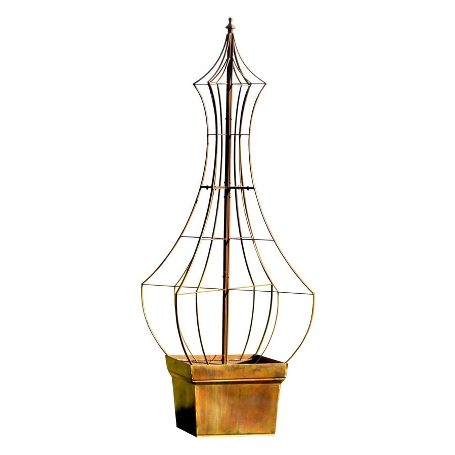 H. Potter Genie 35-in W x 66-in H Charcoal Brown Garden Trellis