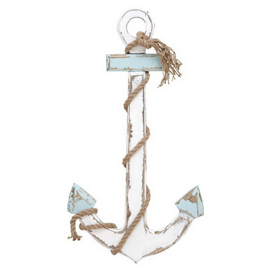 Woodland Imports 15-in x 2.33-ft x 1-in Interior Nautical Maritime Decor Wood Anchor Accent