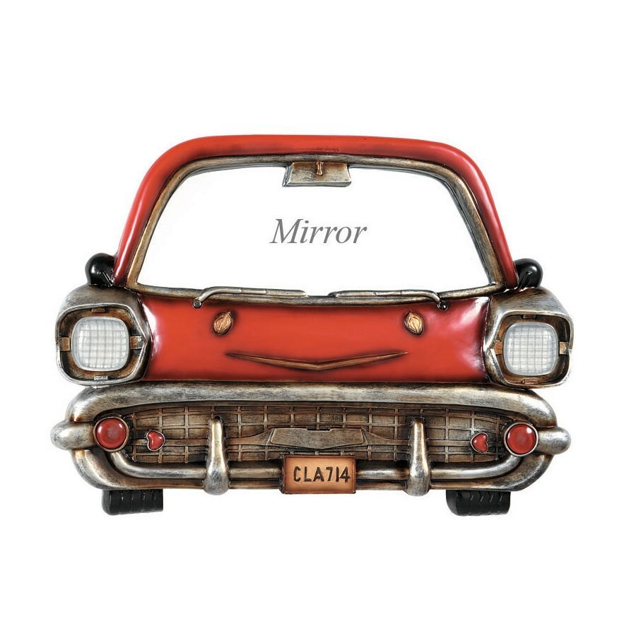 RAM Gameroom Products 24.5-in W x 18-in H Frameless Glass Red Car Sculptural Wall Art