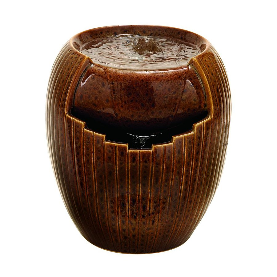 Woodland Imports Tabletop Brown Indoor Fountain