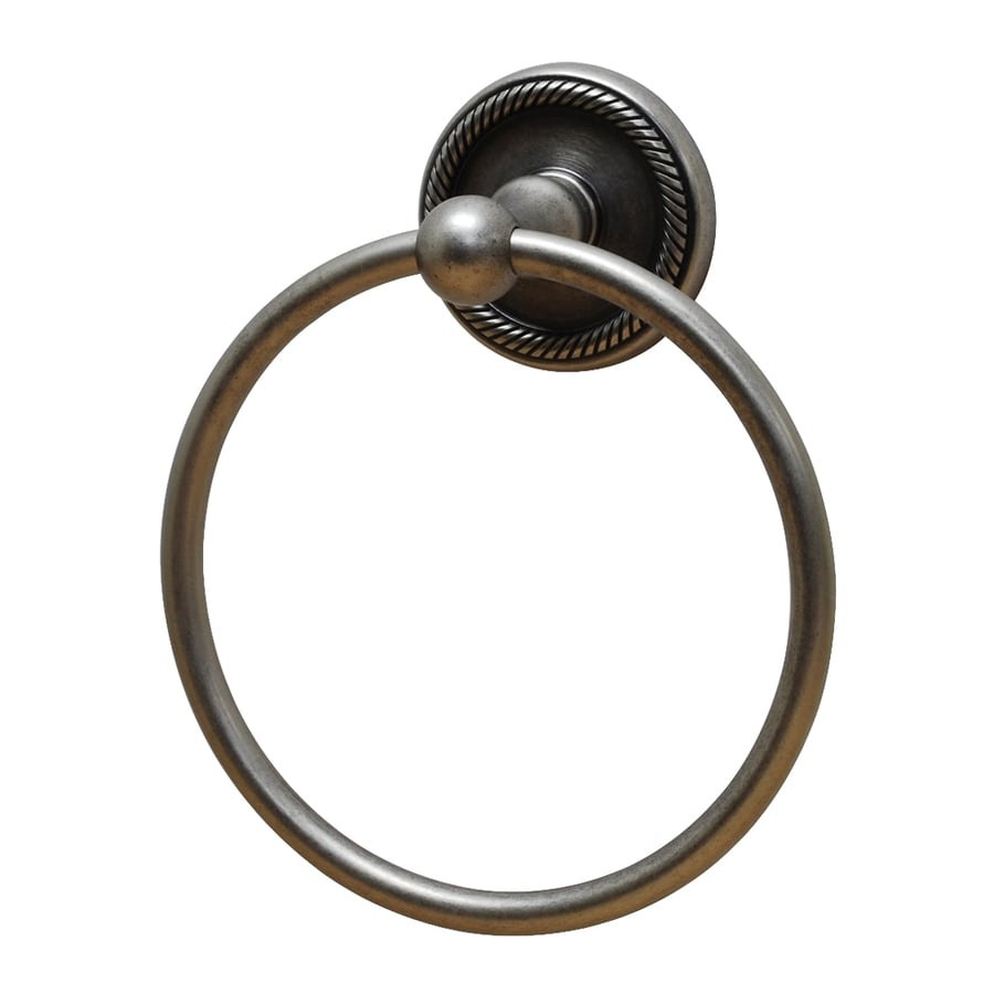Residential Essentials Woodrich Aged Pewter Wall-Mount Towel Ring