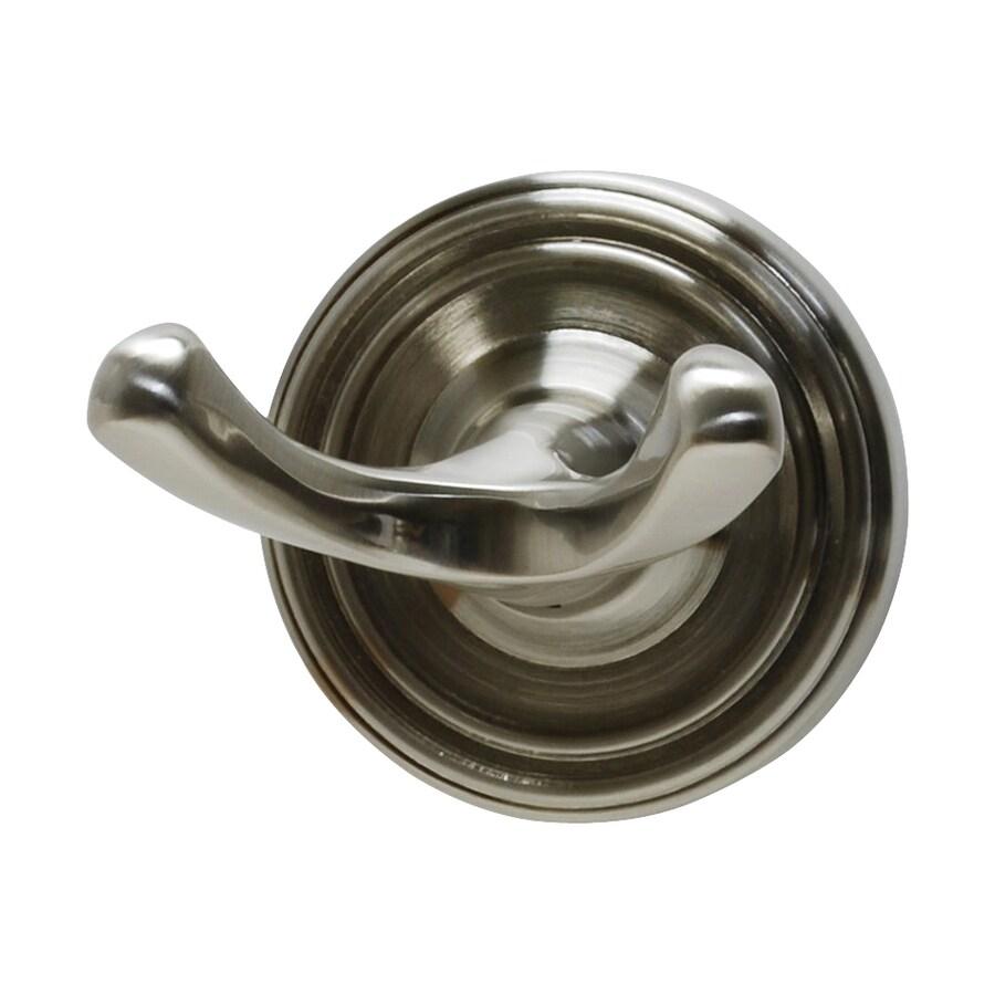 Residential Essentials Bradford 2-Hook Satin Nickel Robe Hook