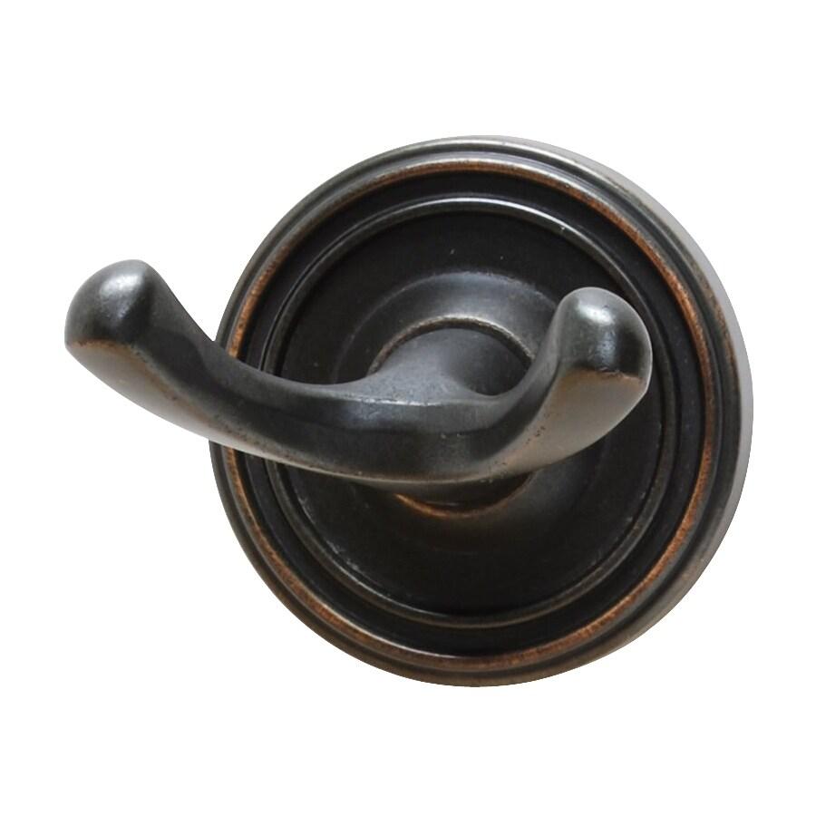Residential Essentials Bradford 2-Hook Venetian Bronze Robe Hook