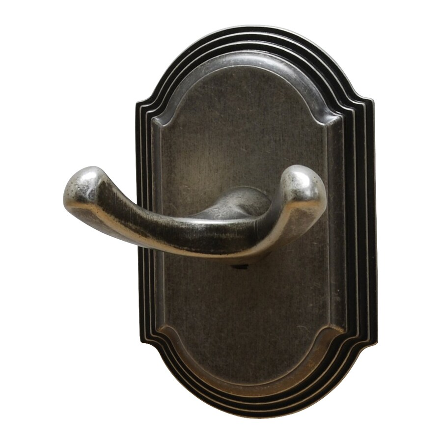 Residential Essentials Ridgeview 2-Hook Aged Pewter Robe Hook