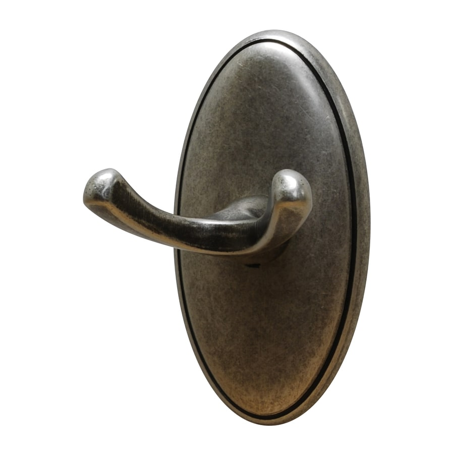 Residential Essentials Addison 2-Hook Aged Pewter Robe Hook