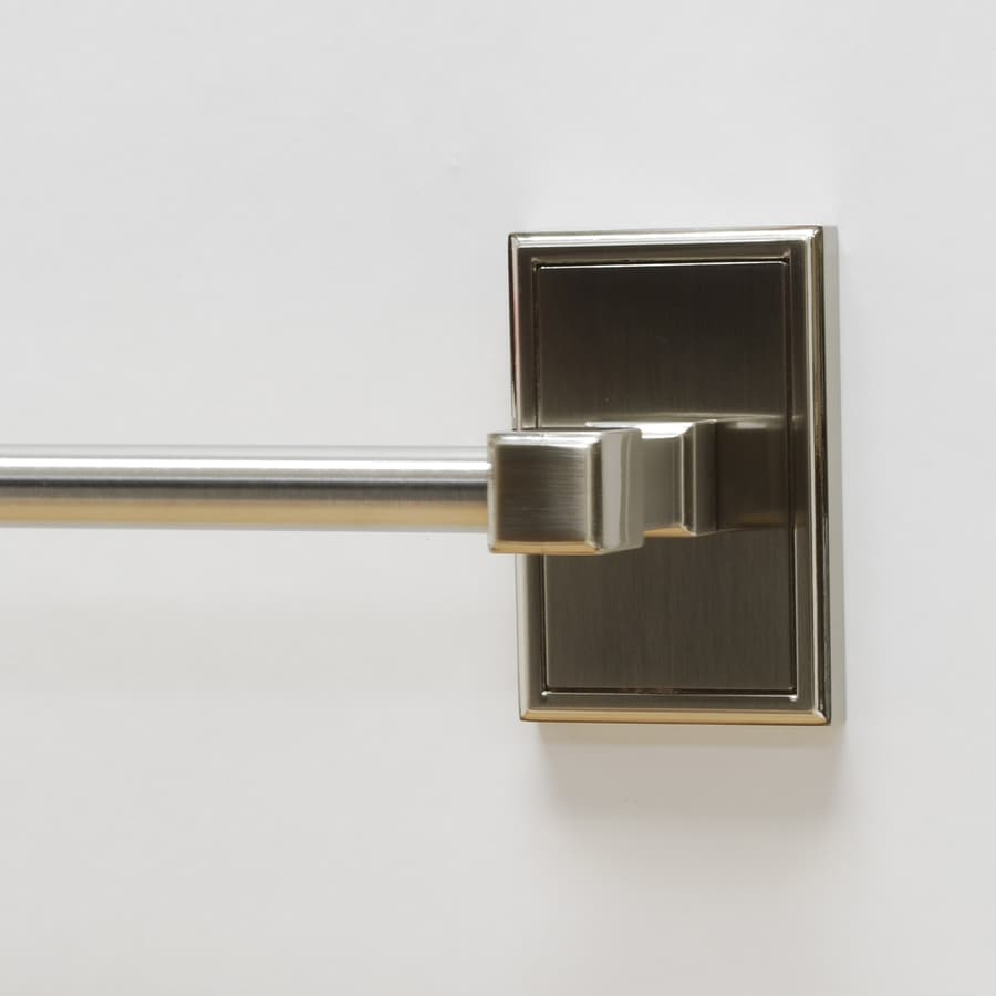 Residential Essentials Hamilton Satin Nickel Single Towel Bar (Common: 18-in; Actual: 20.5-in)