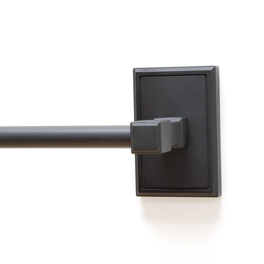 Residential Essentials Hamilton Black Single Towel Bar (Common: 24-in; Actual: 26.625-in)