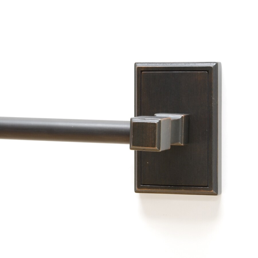 Residential Essentials Hamilton Venetian Bronze Single Towel Bar (Common: 24-in; Actual: 26.625-in)