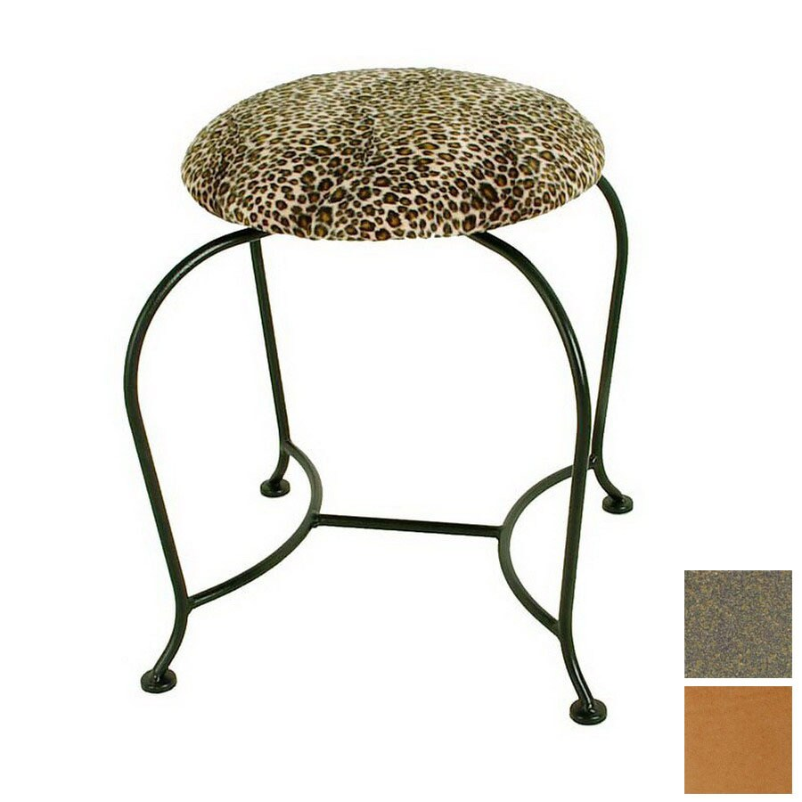 Grace Collection 18-in H Antique Bronze Round Makeup Vanity Stool