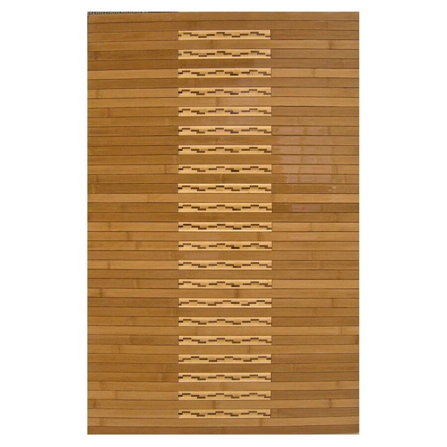 Anji Mountain 36-in x 24-in Brown Wood Bath Mat