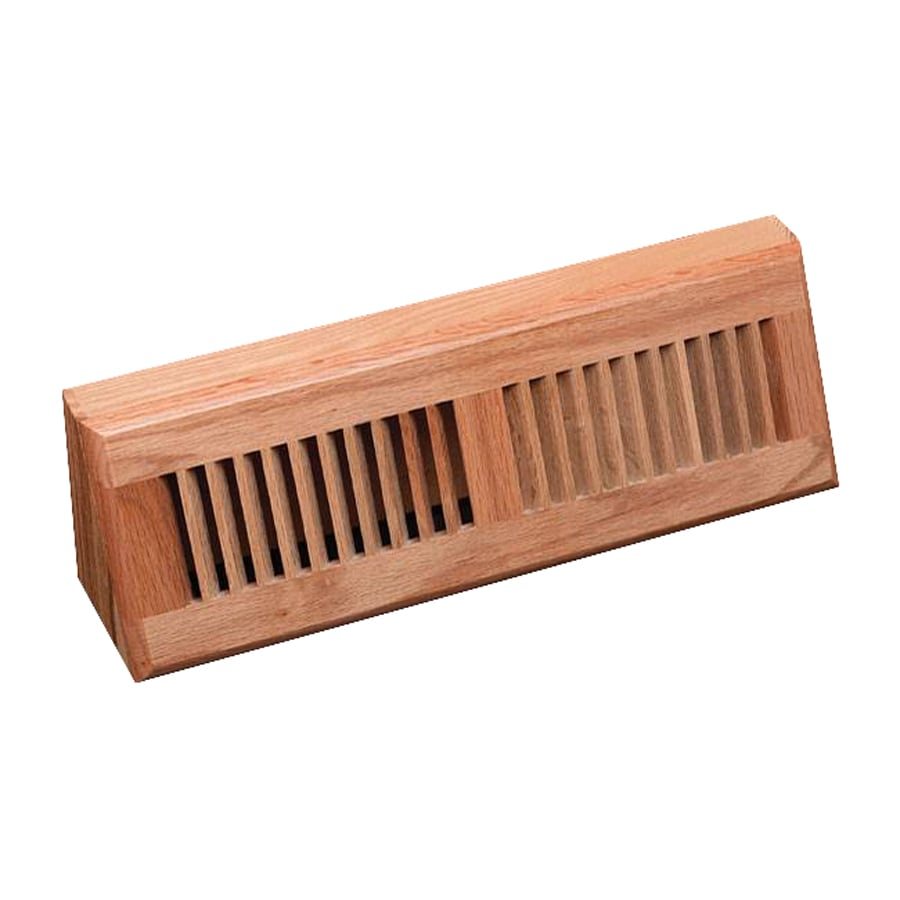 Zoroufy Unfinished Oak Baseboard Register (Rough Opening: 2.25-in x 11.25-in; Actual: 4.25-in x 15.13-in)