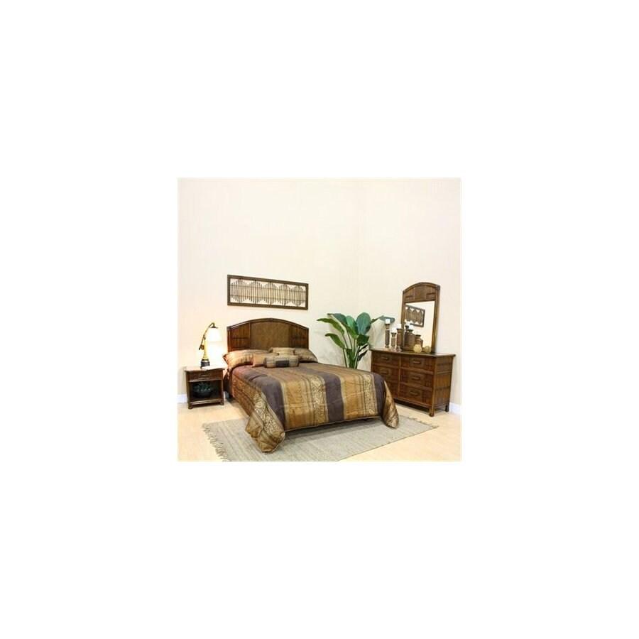 Hospitality Rattan Polynesian Antique King Bedroom Set