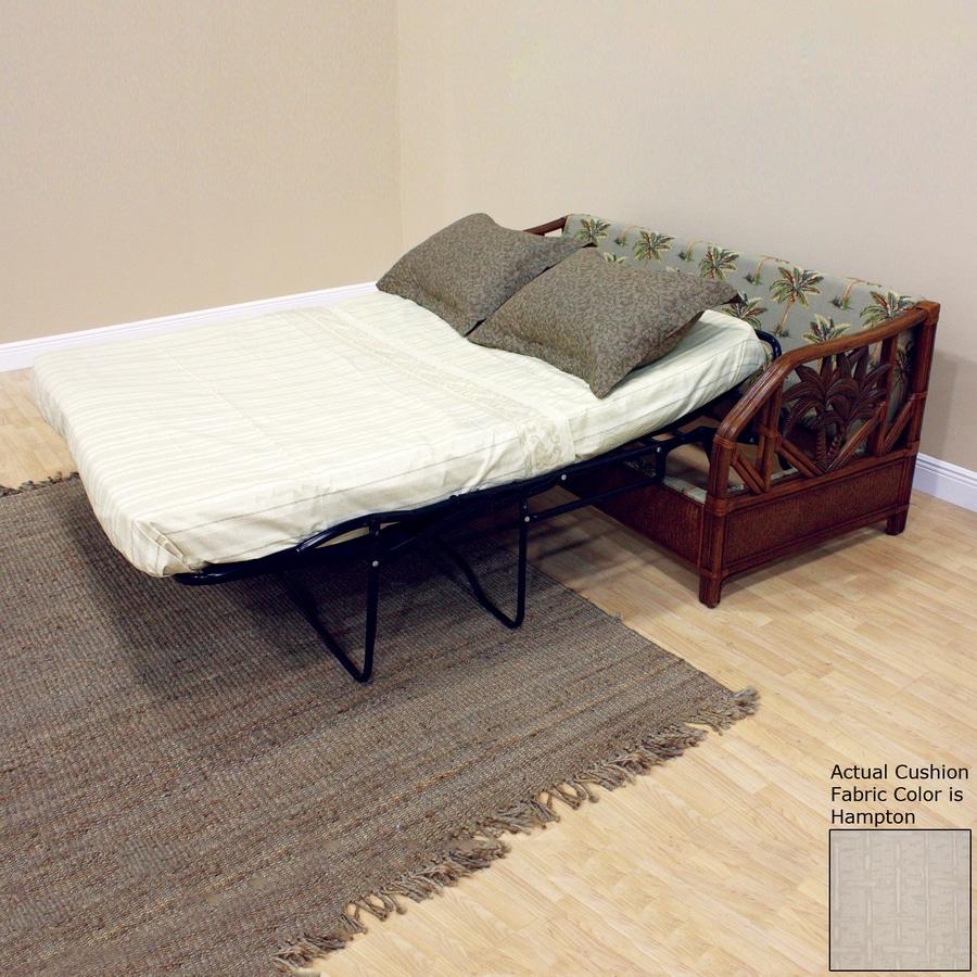 Hospitality Rattan Cancun Palm TC Antique Sleeper Sofa