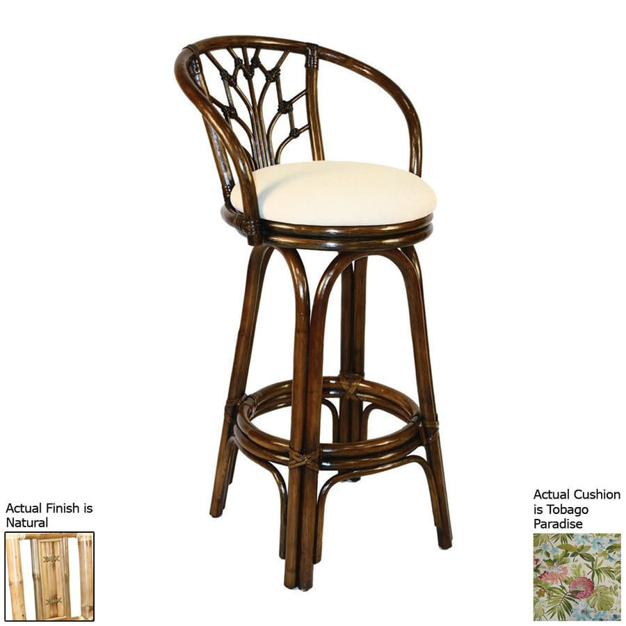 Hospitality Rattan Valencia Tobago Paradise/Natural 30-in Bar Stool